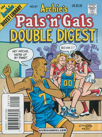 Archie's Pals 'n Gals Double Digest 91 - Approved By The Comics Code - Bench - Woman - Man - So Am I