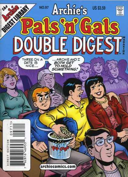 Archie's Pals 'n Gals Double Digest 97 - Archie Digest Library - Archiecomicscom - Magazine - Approved By The Comics Code Authority - Direct Edition