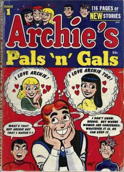 Archie's Pals 'n Gals 1 - Jughead - Betty - Veronica - Issue 1 - Hearts