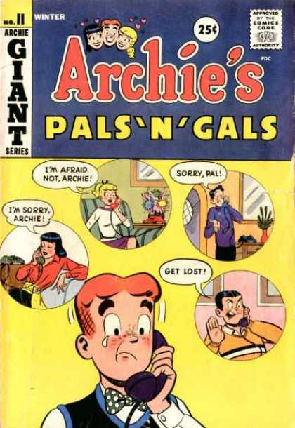 Archie's Pals 'n Gals 11 - Giant - Approved By The Comics Code - Woman - Man - Im Sorry Archie
