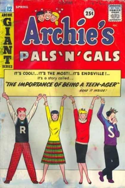 Archie's Pals 'n Gals 12 - Archie Giant Series - The Importance - Of Being - A Teen-ager - Spring