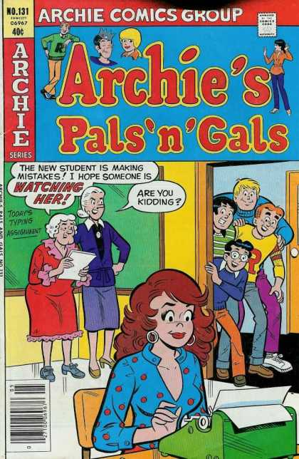 Archie's Pals 'n Gals 131 - Student - Teachers - Classroom - Manual Typewriter - Typing Assignment