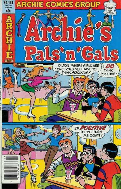 Archie's Pals 'n Gals 138 - 40 Cents - Comics Code Authority - Speech Bubble - Rollerskating Rink - Rollerskates