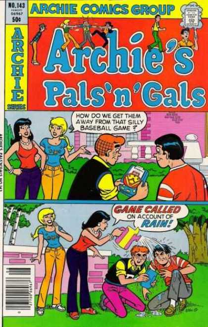Archie's Pals 'n Gals 143 - Archie Comics - Rained Out - How To Stop Them - Pouring Rain - The Plot