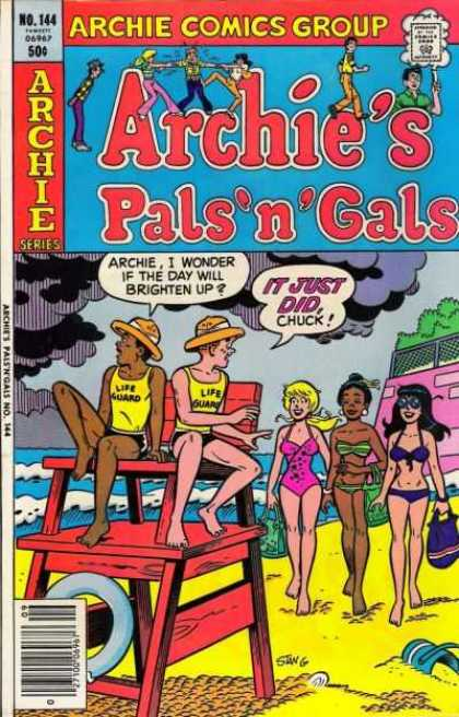 Archie's Pals 'n Gals 144 - Clouds - Chuck - Lifeguards - Ocean - Betty