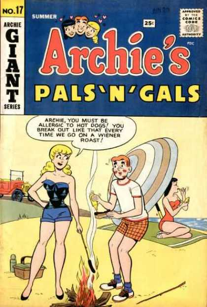 Archie's Pals 'n Gals 17 - Man - Lady - Fire - Beach - Car