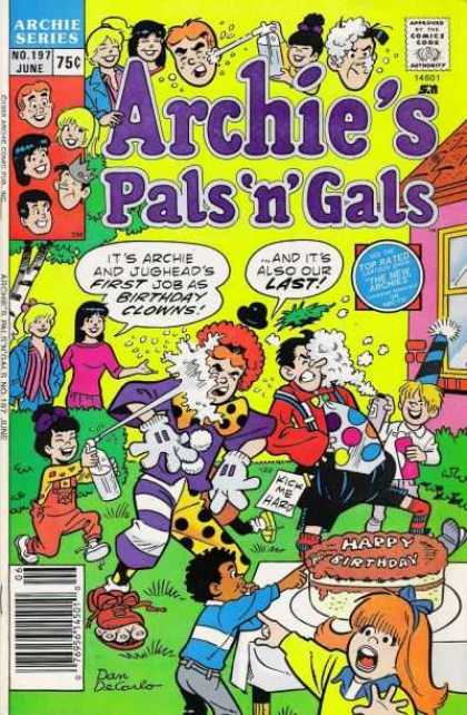 Archie's Pals 'n Gals 197 - Jughead - Veronica - Betty - Reginald - Clown