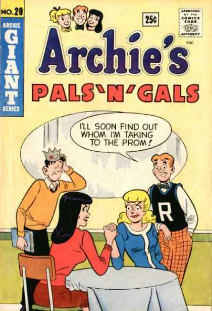 Archie's Pals 'n Gals 20 - Archie - Jughead - Betty And Veronica - Arm Wrestling - Prom Date