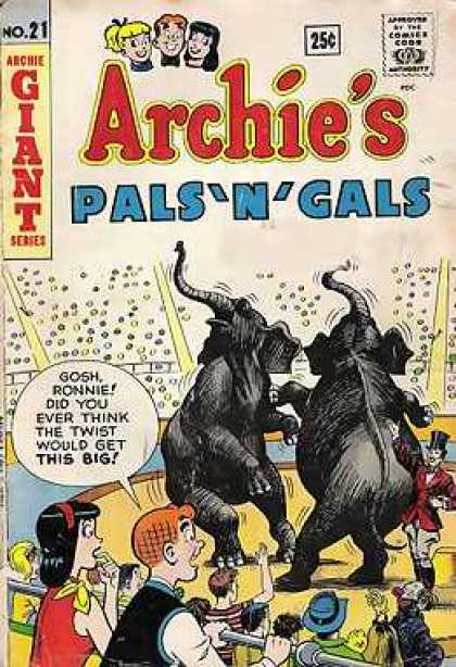 Archie's Pals 'n Gals 21 - 25 Cents - Elephants - Circus - Giant Series - Speech Bubble