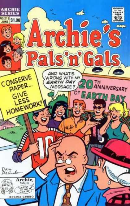 Archie's Pals 'n Gals 215 - Archie - No 215 - Pals N Gals - Earth Day - Demonstration