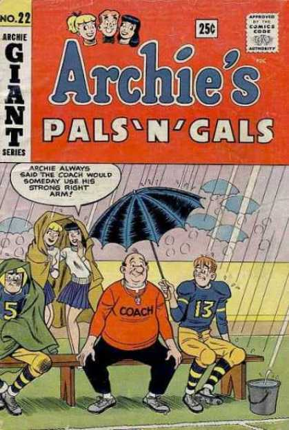 Archie's Pals 'n Gals 22 - Football Game - Coach Kleats - Raining - Betty - Veronica