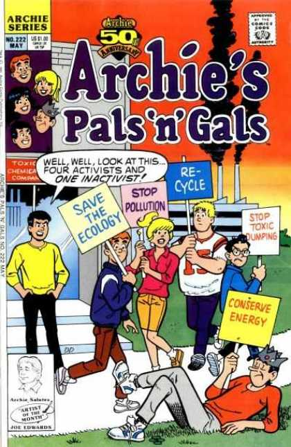 Archie's Pals 'n Gals 222 - Recycle - Smoke - Toxic Dumping - Ecology - Energy