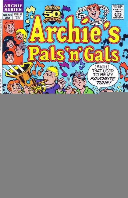 Archie's Pals 'n Gals 223 - Archie - Archie Comics - Pals And Gilrs - Party - Music
