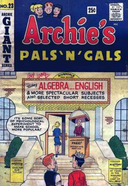 Archie's Pals 'n Gals 23 - Bloppers - Los Of Fun - Friends - Popular Way Back When - Good Ol Days