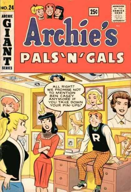 Archie's Pals 'n Gals 24 - Nurse - Pin-ups - Ben Casey - Desk - Arms Folded