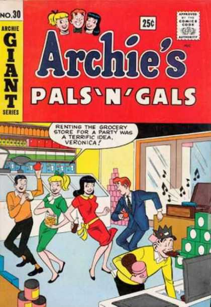 Archie's Pals 'n Gals 30 - Betty U0026 Veronica - Reggie - Jughead - Grocery Store - Party