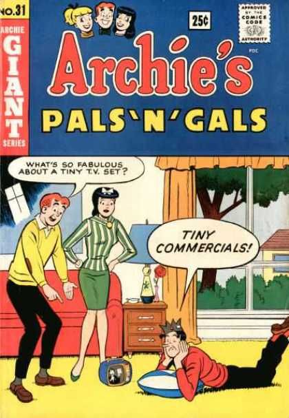 Archie's Pals 'n Gals 31 - Veronica - Red Sofa - Screen Door - Green Skirt - Jug Head
