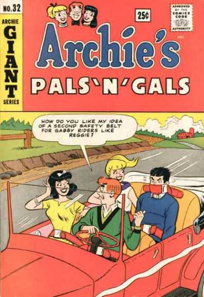 Archie's Pals 'n Gals 32 - Archie Giant Series - Reggie - Car - Safety Belt - Gabby