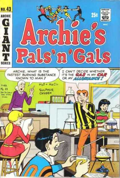 Archie's Pals 'n Gals 43 - No 43 - Chemistry - Allowance - Giant Series - Laughter
