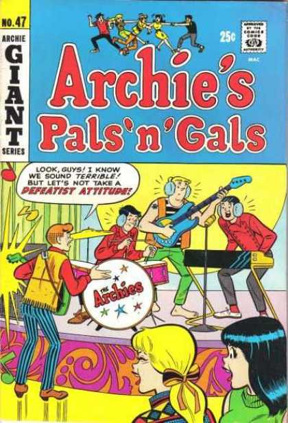 Archie's Pals 'n Gals 47 - Jughead - Band - Concert - Betty - Veronica