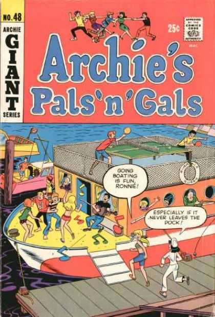 Archie's Pals 'n Gals 48 - Ocean - Cruise - Ping Pong - Music Notes - Boating