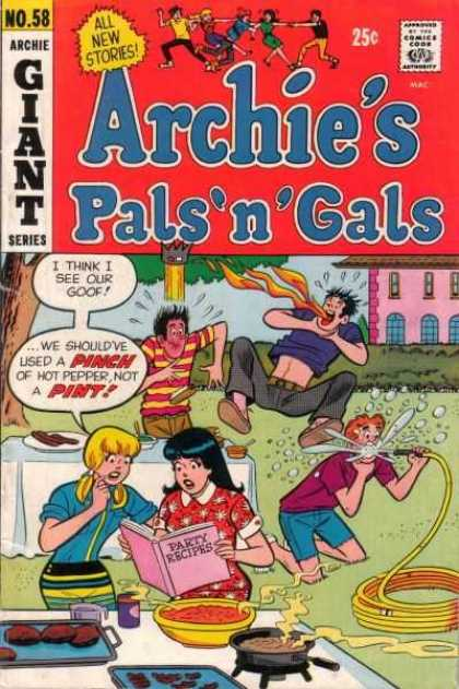Archie's Pals 'n Gals 58 - Goof - Pinch - Party Recipes - Hot Pepper - Hose