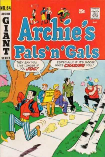 Archie's Pals 'n Gals 64 - Moose Is Mad - Park Bench - Jughead - March Issue - Saturday Morning Cartoon