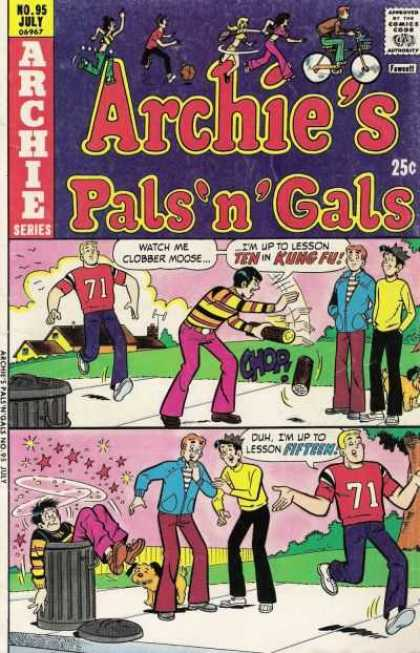 Archie's Pals 'n Gals 95 - Archie And Reggie - Jughead - Pals - Gals - Jughead In Trash Can