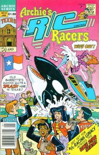 Archie's R-C Racers 9 - Archie Series - Old Babbette - Comics Code - Racing Lunacy - Lone Star State