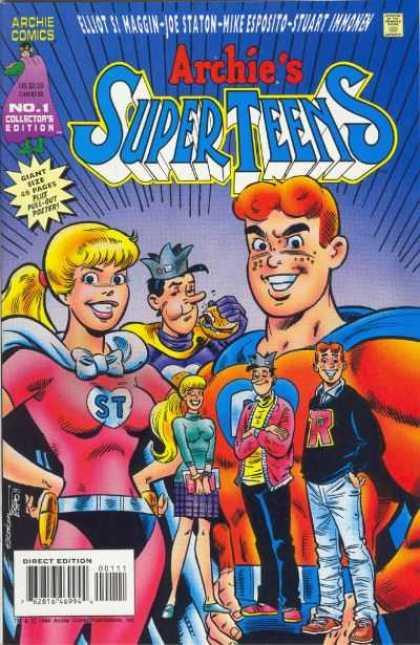 Archie's Super Teens 1 - Approved By The Comics Code Authority - Archie Series - Direct Edition - Joe Staton - Stuart Immomen - Joe Staton