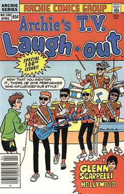 Archie's TV Laugh-Out 100 - Archie Comics - Glen Scarpellie - 100th Issue - Hollywood - Band