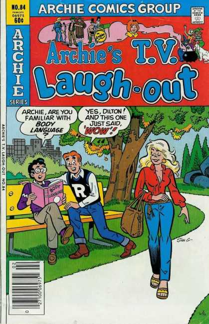 Archie's TV Laugh-Out 84 - Approved By The Comics Code Authority - Archie Comics Group - Tree - Body Language - Bag