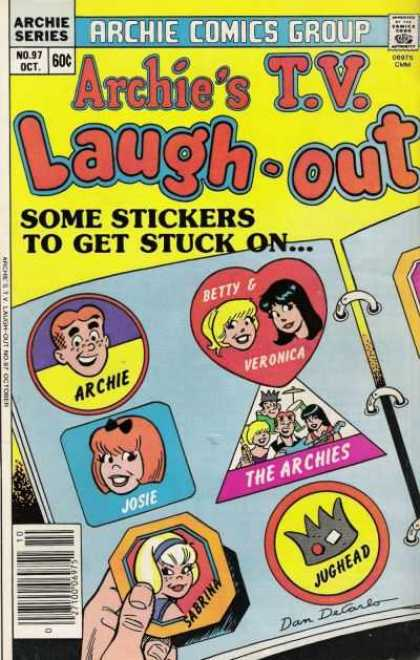 Archie's TV Laugh-Out 97 - Archie Series - Some Stickers To Get Stuck On - Betty And Veronica - Comics Code - Book