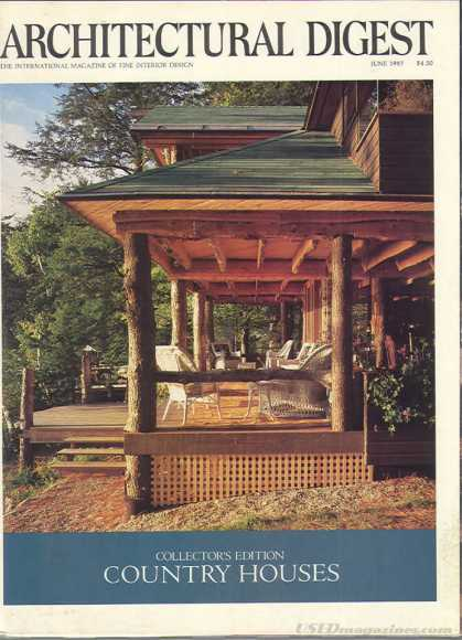 Architectural Digest - June 1987