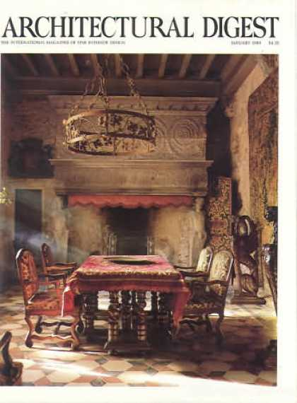Architectural Digest - January 1989