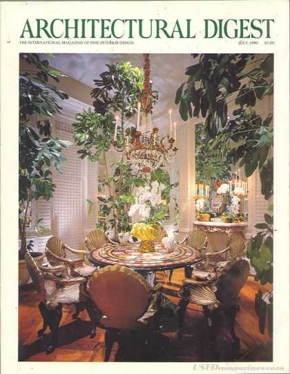 Architectural Digest - July 1990