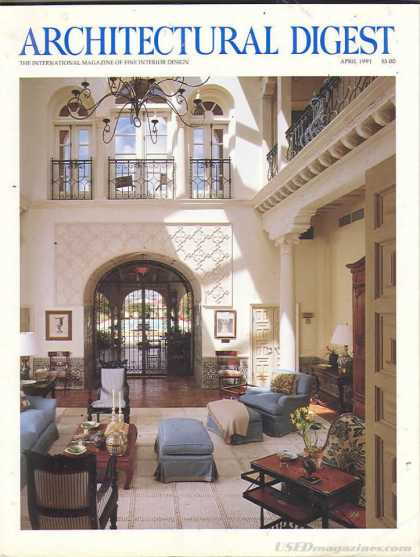 Architectural Digest - April 1991
