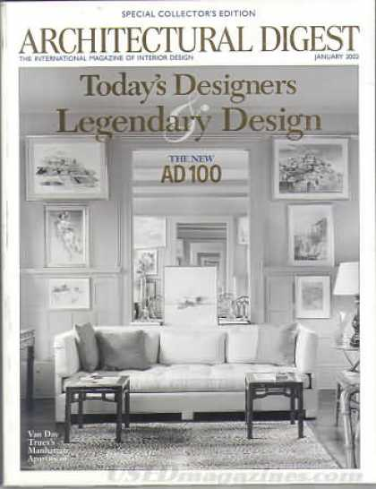 Architectural Digest - January 2002
