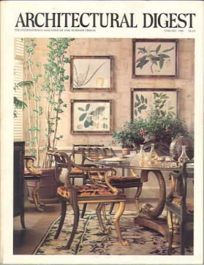 Architectural Digest - January 1982
