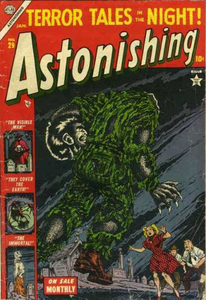 Astonishing 29 - Terror Tales In The Night - Green Monster - Decaptitated Head - 1950s - No 29