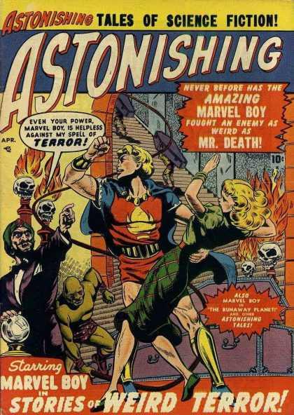 Astonishing 3 - Woman - Skulls - Fire - Monsters - Hero - Bill Everett