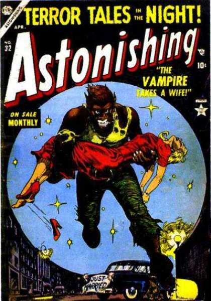 Astonishing 32 - Terror Tales - Night - Beast - Woman - Stars