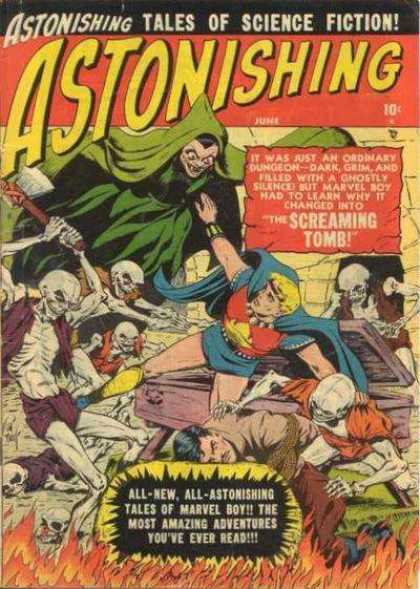 Astonishing 4 - Science Fiction - Dungeon - Screaming - Tomb - Marvel Boy - Bill Everett