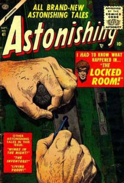 Astonishing 41 - Mystery - Lock Pick - Key - Masked Man - Green Door