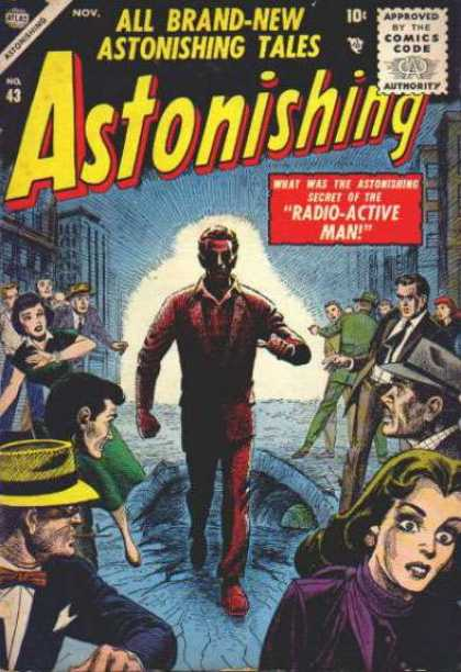 Astonishing 43 - Fear - Radioactive - Super Power - 1920s - Suit