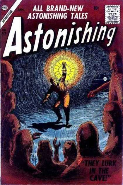 Astonishing 57 - Suspense - Mystery - Cave - Darkness - Alone - Bill Everett