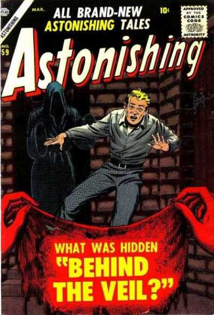 Astonishing 59 - Veil - Tales - Hidden - Brick Wall - Man - Bill Everett