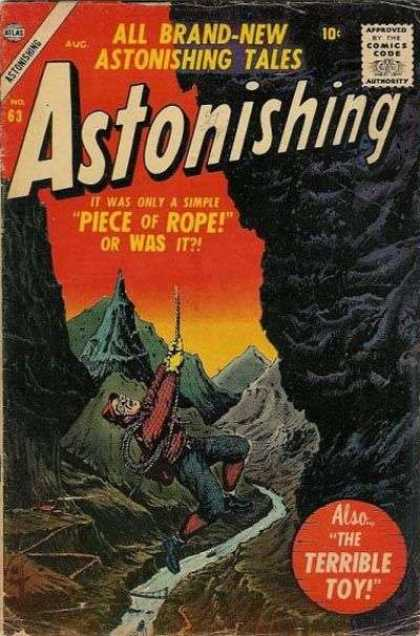 Astonishing 63 - Climber - Mountains - Magic Rope - Peaks - Winding Stream - Bill Everett