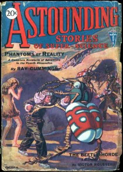 Astounding Stories 1 - Beetle - Phantoms Of Reality - Cummings - 20 Cents - The Beetle Horde