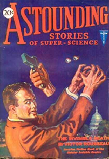 Astounding Stories 10 - Invisible - Gun - Strangling - Fighting - Capitol Buiding